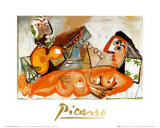 Reclining Nude and Musician Plakater af Pablo Picasso