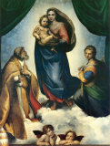 Sixtinische Madonna, ca.1513–1514 Poster von  Raphael