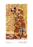 Fulfillment, Stoclet Frieze, c.1909 Posters por Gustav Klimt