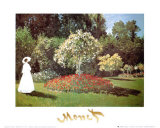 Lady in a Garden Pôsters por Claude Monet
