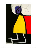 Woman in the Night Posters af Joan Miró