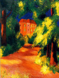 Rotes Haus Plakater af Auguste Macke