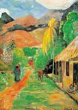 Chemin a Papeete Print van Paul Gauguin