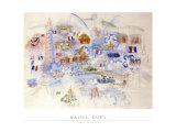 Paris 14 Juillet Planscher av Raoul Dufy