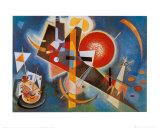 I blått, ca 1925 Posters av Wassily Kandinsky