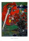 花のある静物 サンジャン・カップ・フェラー ポスター : マルク・シャガール