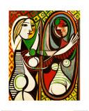 鏡の前の若い女1932 高品質プリント : パブロ・ピカソ