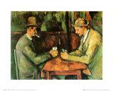 Les joueurs de cartes, 1885-90 Affiches par Paul Cézanne