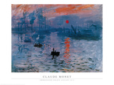 Impression, Sunrise Affiches par Claude Monet