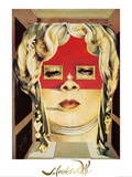 Face of Mae West, c.1935 Posters av Salvador Dalí