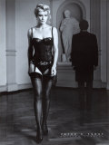 Danielle im schwarzen Dessus Poster van Peter Furst