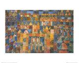Tempelviertel von Pert, c.1928 Plakater af Paul Klee