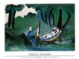 Peintre Son Modele Poster por Pablo Picasso