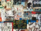 Tissu d'Episode, 1976 Plakater av Jean Dubuffet