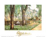 Basin and Fountain of Jas de Bouffan Affiches par Paul Cézanne