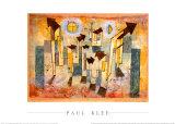 憧憬の寺院の壁画 ポスター : パウル・クレー