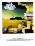 Wall Decoration for Helena Rubinstein, c.1942 Poster di Salvador Dalí