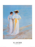 Two Ladies on the Beach Posters av Michael Peter Ancher