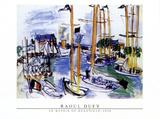 Bassin de Deauville, 1926 Konst av Raoul Dufy