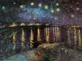 星月夜(ローヌ河) 高品質プリント : フィンセント・ファン・ゴッホ