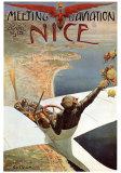 Luftfahrttreffen in Nizza Kunstdrucke von Charles Leonce Brosse