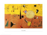 Katalanische Landschaft Poster av Joan Miró