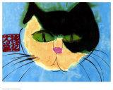 Cat's Head Poster van Walasse Ting