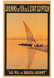 Le Nil Au Soleil Levant Posters af M. Tamplough