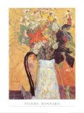 Blumenstrauss in Weissem Krug Póster por Pierre Bonnard