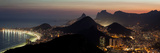 The City Lights of Rio, Seen From the Peak of Sugar Loaf Mountain Photographic Print by Babak Tafreshi