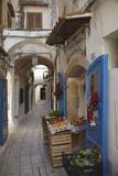 A Street Scene in the Old Part of Sperlonga, Lazio, Italy Fotografie-Druck von Nigel Hicks