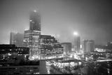 Cityscape of Buckhead, Atlanta in a Heavy Fog at Night Photographic Print by Stephen Alvarez