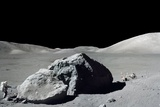 Apollo 17 Astronaut Harrison Schmitt During the Final Moonwalk of the Apollo Program Premium-Fotodruck