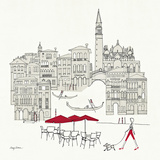 World Cafel IV - Venice Red Poster von Avery Tillmon