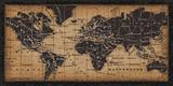 Oude wereldkaart Posters van  Pela Design