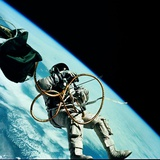 Edward H. White II, the First American to Perform a Space Walk Fotografie-Druck