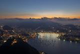 Wide Angle View of Rio De Janeiro at Sunset with Guanabara Bay Impressão fotográfica por Alex Saberi