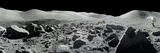 An Apollo 17 Composite Photograph at Station 5 Shows a Stretch of Rock-strewn Moon Features Fotografisk tryk