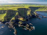 Aerial View of the Giant's Causeway in Northern Ireland Trykk på strukket lerret av Chris Hill