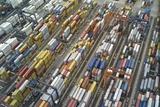 An Aerial View of the Port of Balboa, on Panama's West Coast Lámina fotográfica por Kike Calvo