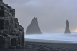 Basalt Columns at Reynisfjara Beach Near Vik Photographic Print by Raul Touzon