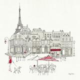 World Cafe II - Paris Red Poster von Avery Tillmon
