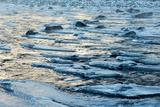 Early Winter Ice Forms on the Shoshone River at Sunrise Photographic Print by Bob Smith