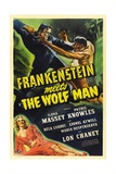 Frankenstein Meets the Wolf Man, 1943, Directed by Roy William Neill Giclée-tryk
