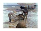 Fishermen From Valencia, 1895, Spanish School Gicléedruk van Joaquín Sorolla y Bastida