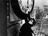 "Harold Lloyd. ""Safety Last"" 1923, Directed by Fred Newmeyer Fotografie-Druck"