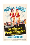 "Howard Hawks' Gentlemen Prefer Blondes, 1953, ""Gentlemen Prefer Blondes"" Directed by Howard Hawks Impressão giclée"