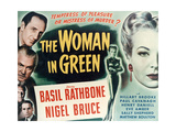 """Sherlock Holmes And the Woman In Green, 1945, """"The Woman In Green"""" Directed by Roy William Neill Gicléedruk"""