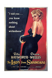 The Lady From Shanghai, Rita Hayworth, Directed by Orson Welles, 1947 Impressão giclée