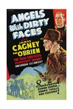 """Battle of City Hall, 1938, """"Angels With Dirty Faces"""" Directed by Michael Curtiz Giclée-Druck"""